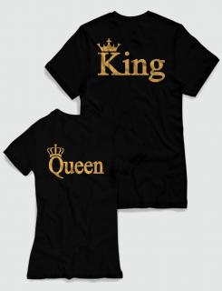 Μπλουζάκια με στάμπα King - Queen