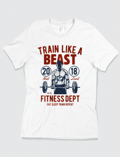 Μπλουζάκι με τύπωμα Train like a beast