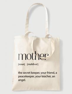 Υφασμάτινη τσάντα με στάμπα Mother