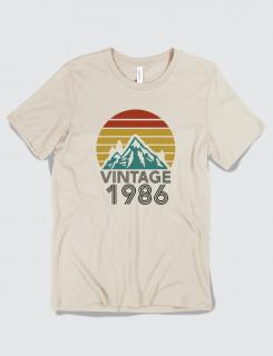 Μπλουζάκι με τύπωμα Vintage Birthday