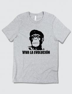 Μπλουζάκι με στάμπα Viva la evolucion
