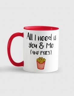 Κούπα κεραμική με τύπωμα All i need is you & me