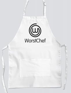 Ποδιά μαγειρικής με εκτύπωση Worst Chef