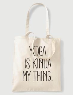 Υφασμάτινη τσάντα με στάμπα Yoga is kinda my thing