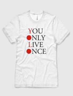 Μπλουζάκι με στάμπα YOLO