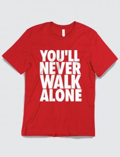 Μπλουζάκι με τύπωμα You'll Never walk alone