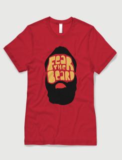 Μπλουζάκι με στάμπα Fear the beard