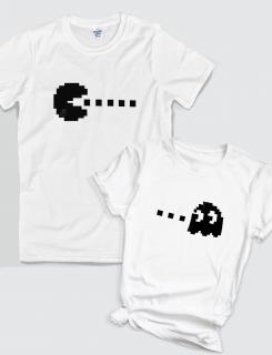 Μπλουζάκια με στάμπα Pacman - Ghost