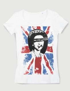 Μπλουζάκι με στάμπα God save the queen