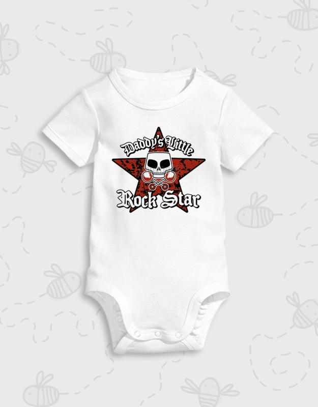 Παιδικό φορμάκι με στάμπα Daddy s Little Rock Star 4ea75107f09