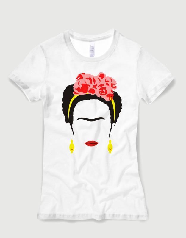 Μπλουζάκι με στάμπα Frida Kahlo 762969aaee7