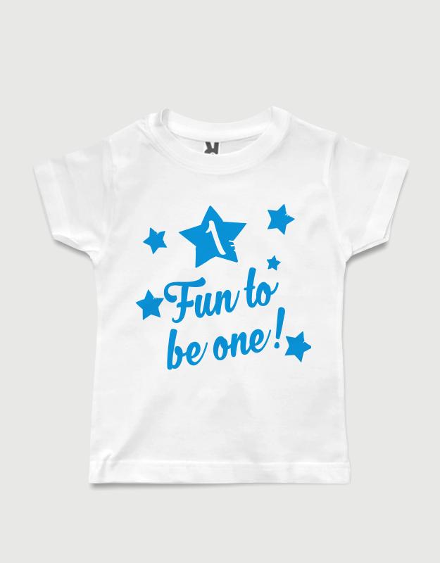 Μπλουζάκι με στάμπα Fun to be one! a2941321c86