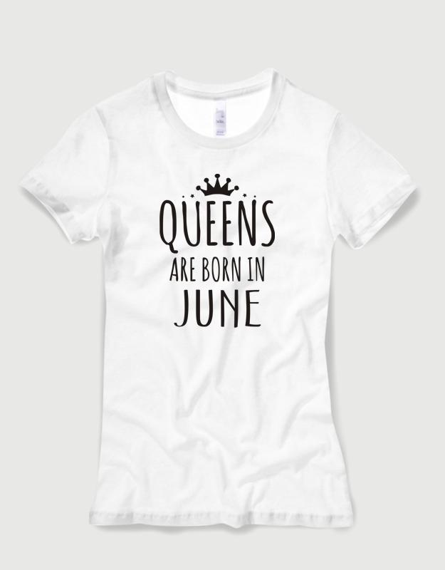 d3f37295bbaa Μπλουζάκι με στάμπα Queens are born in June