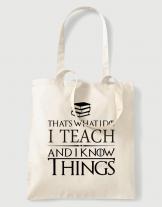 Υφασμάτινη τσάντα με στάμπα That is what i do