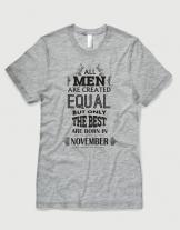 Μπλουζάκι με στάμπα All men are created equal - November