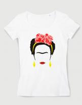 Μπλουζάκι με στάμπα Frida Kahlo
