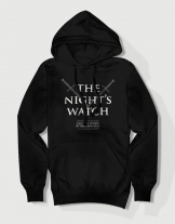 Hoodied φούτερ με στάμπα The night's watch