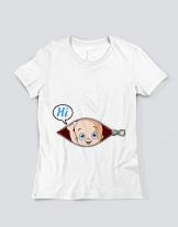 Μπλουζάκι με τύπωμα Hi
