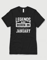 Μπλουζάκι με στάμπα Queens are born in January