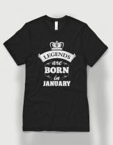 Μπλουζάκι με στάμπα Legends are born in January