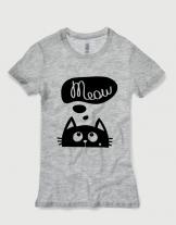 Μπλουζάκι με τύπωμα Meow