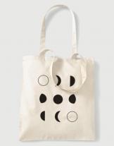 Υφασμάτινη τσάντα με στάμπα Moon Phases