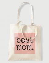 Υφασμάτινη τσάντα με στάμπα Best mom