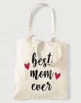 Υφασμάτινη τσάντα με στάμπα Best mom ever